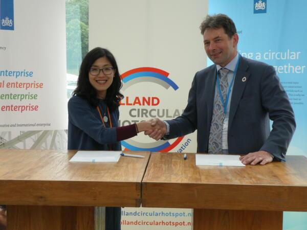 Taiwan Circular Economy Network and Holland Circular Hotspot sign Memorandum of Understanding