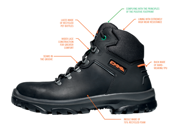 EMMA Safety Footwear – sustainable safety shoes
